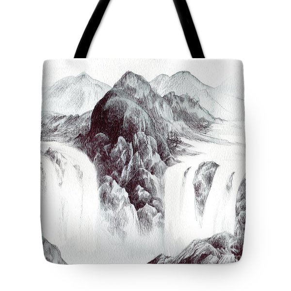 Tranquil Thunder Tote Bag