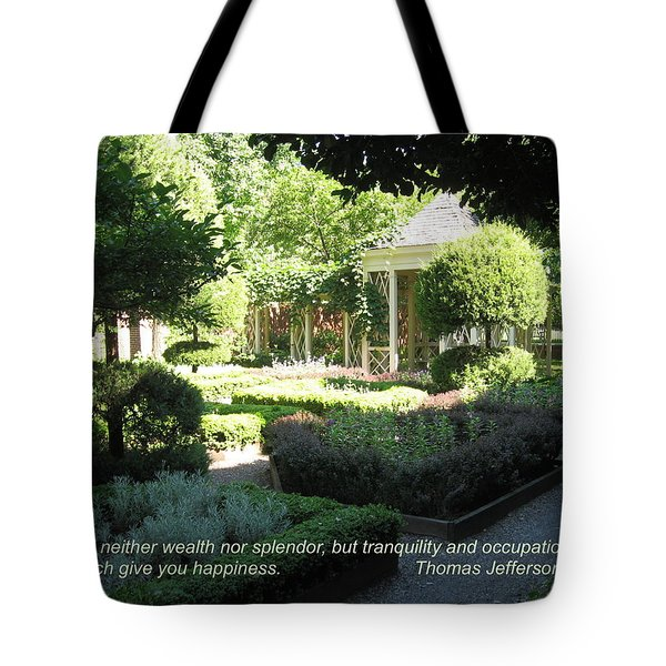Tranquility And Occupation Tote Bag