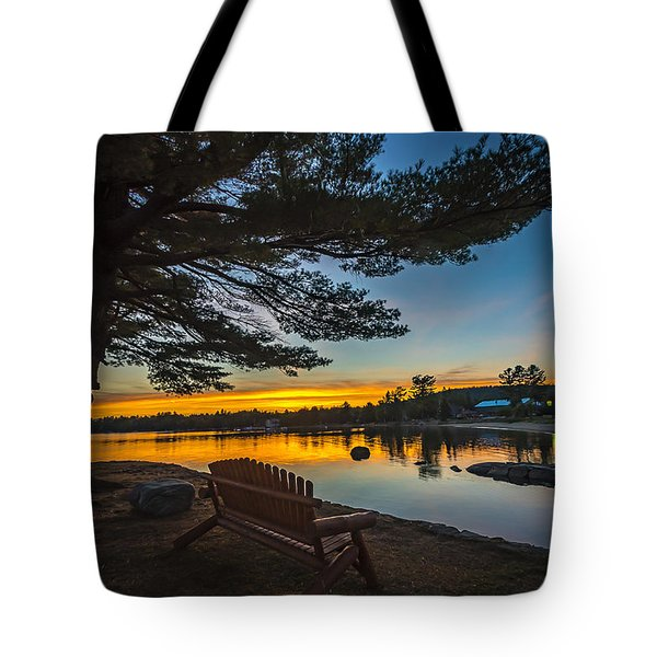 Tranquility At Sunset Tote Bag