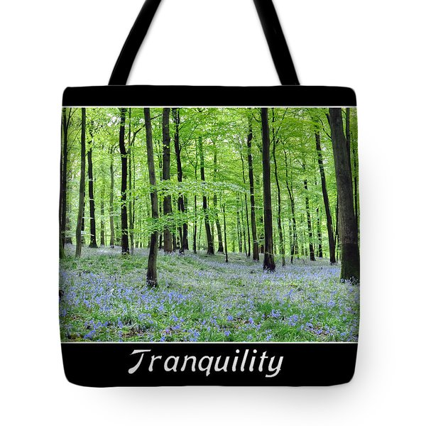 Tranquility - Bluebells In Woods Tote Bag by Geraldine Alexander