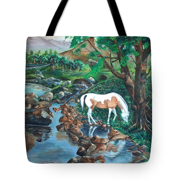 Tote Bag featuring the painting Tranquility by Farzali Babekhan
