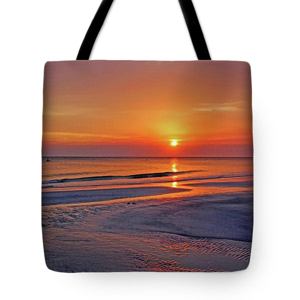 Tranquility - Florida Sunset Tote Bag by HH Photography of Florida