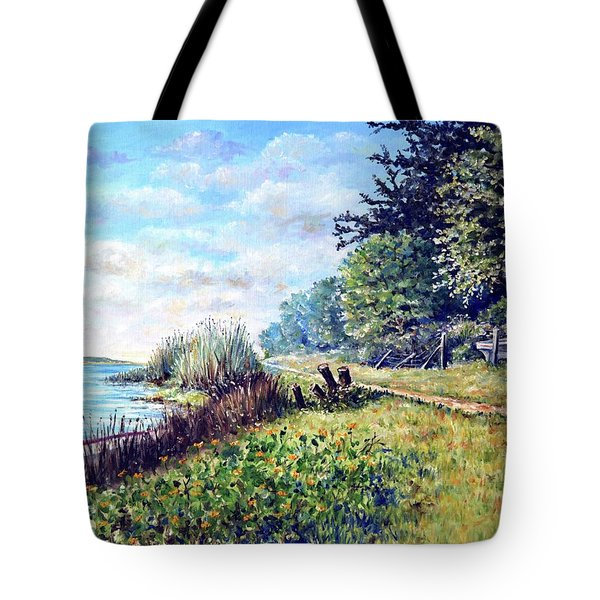 Tote Bag featuring the painting Tranquility by Heidi Kriel