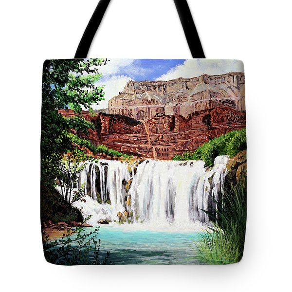 Tranquility In The Canyon Tote Bag