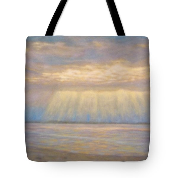 Tote Bag featuring the painting Tranquility by Joe Bergholm
