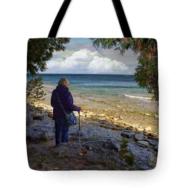 Tote Bag featuring the photograph Tranquility by Judy Johnson