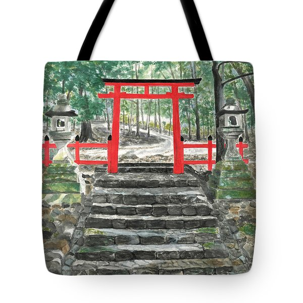 Tranquility Torii Tote Bag