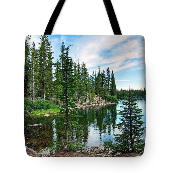 Tranquility - Twin Lakes In Mammoth Lakes California Tote Bag