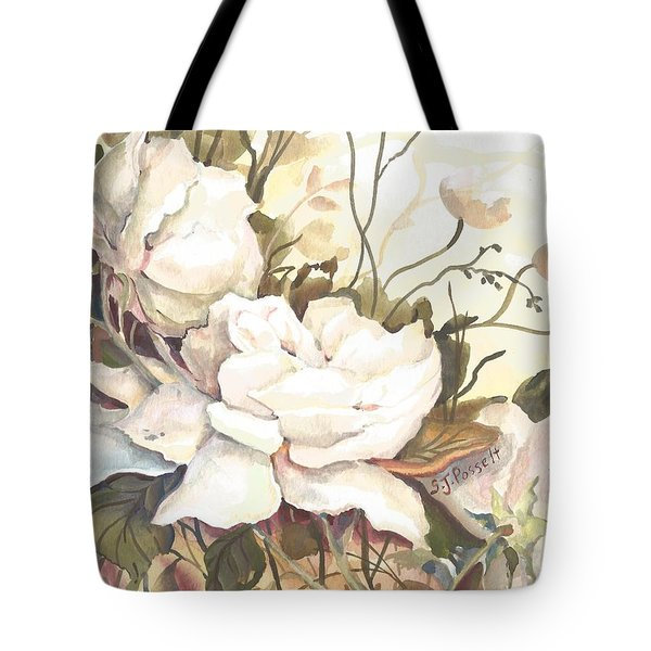 Tranquility Study In White Tote Bag