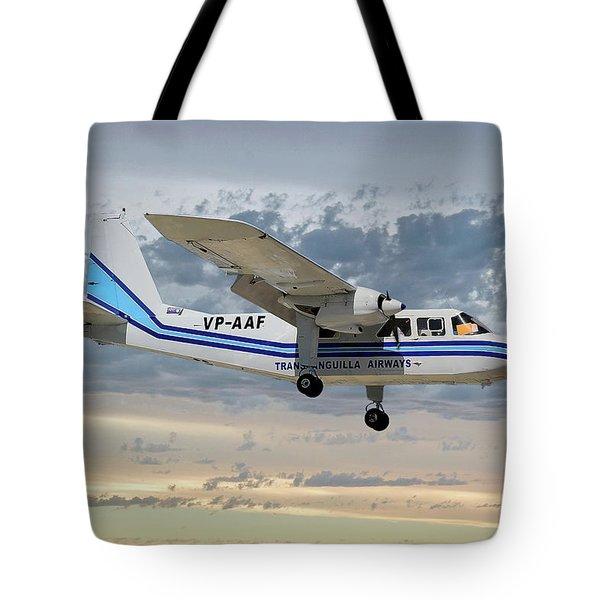 Trans Anguilla Airways Britten-norman Bn-2b-21 Islander 114 Tote Bag