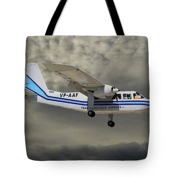 Trans Anguilla Airways Britten-norman Bn-2b-21 Islander 116 Tote Bag
