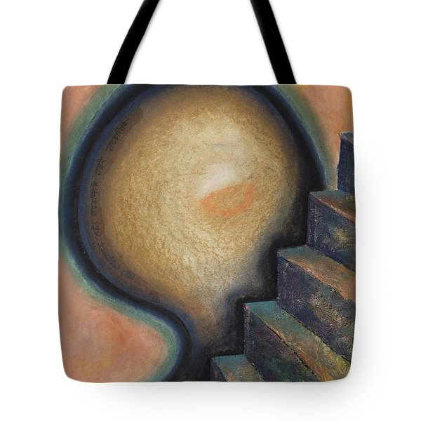 Tote Bag featuring the painting Transcendence by Mini Arora