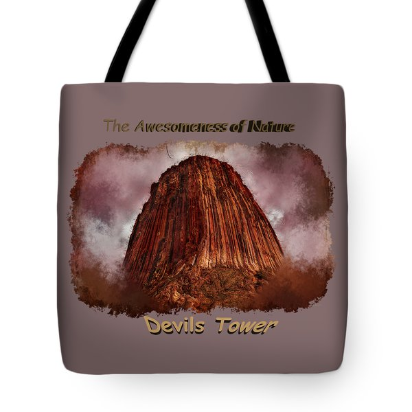 Transcendent Devils Tower 2 Tote Bag