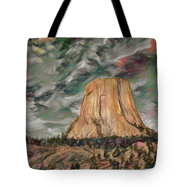 Transcendental Devils Tower Tote Bag