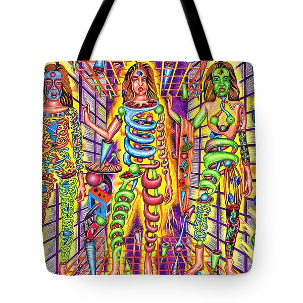 Transcendental Junction Of A Cosmic Grotto Tote Bag