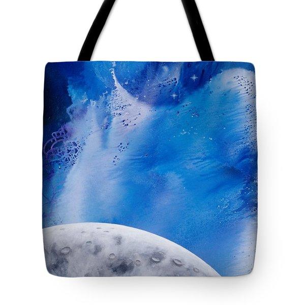 Transcendental Moon Tote Bag by Lee Pantas