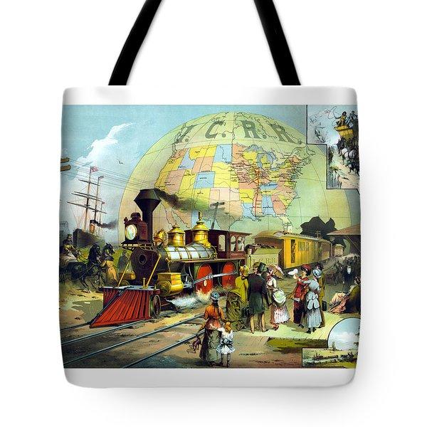 Transcontinental Railroad Tote Bag