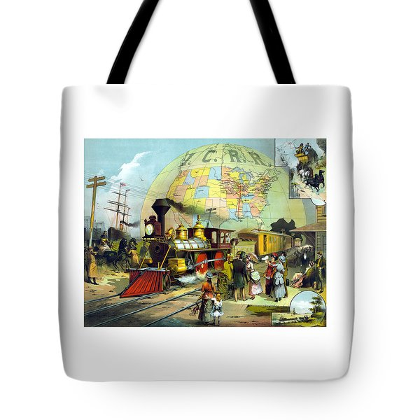 Transcontinental Railroad Tote Bag by War Is Hell Store
