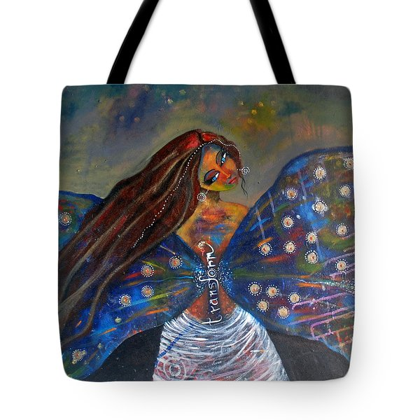 Tote Bag featuring the painting Transform by Prerna Poojara