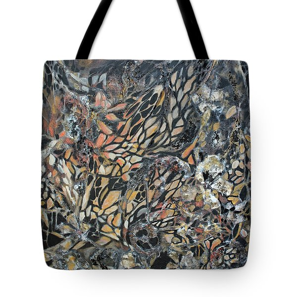 Tote Bag featuring the mixed media Transformation by Joanne Smoley