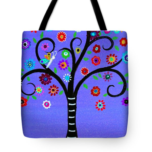 Tote Bag featuring the painting Transformation Tree Of Life by Pristine Cartera Turkus