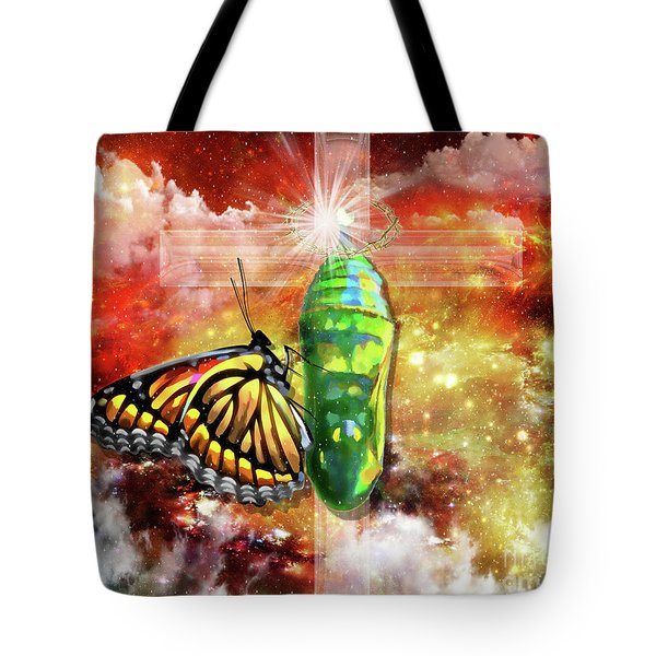 Tote Bag featuring the digital art Transformed By The Truth by Dolores Develde