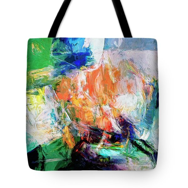 Tote Bag featuring the painting Transformer by Dominic Piperata