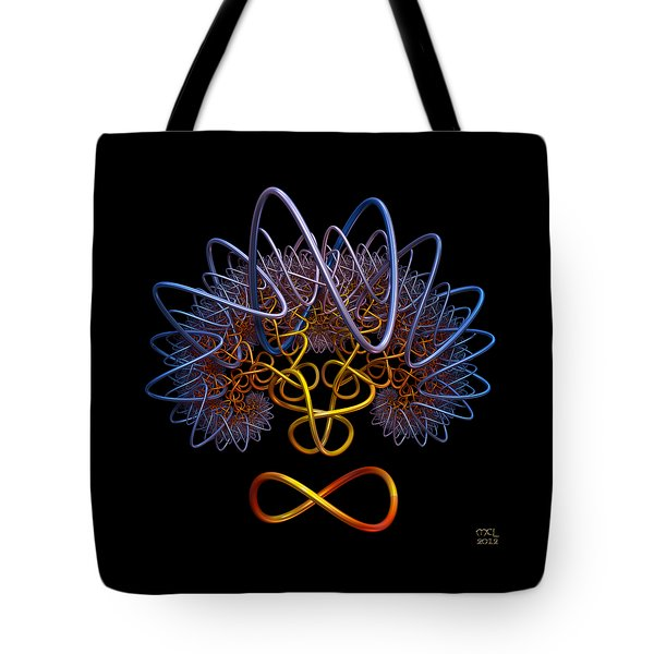 Tote Bag featuring the digital art Transinfinity - A Fractal Artifact by Manny Lorenzo