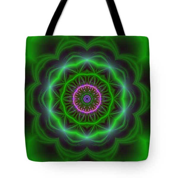 Tote Bag featuring the digital art Transition Flower 10 Beats by Robert Thalmeier