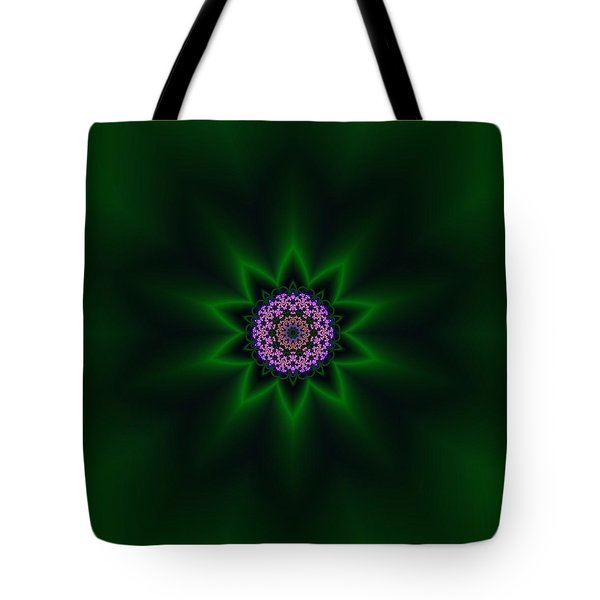 Tote Bag featuring the digital art Transition Flower 10 by Robert Thalmeier