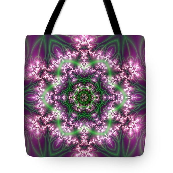 Tote Bag featuring the digital art Transition Flower 6 Beats 4 by Robert Thalmeier