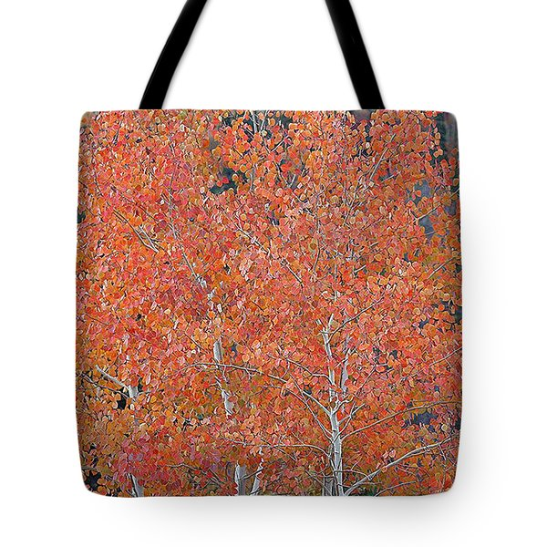 Translucent Aspen Orange Tote Bag by Gary Baird