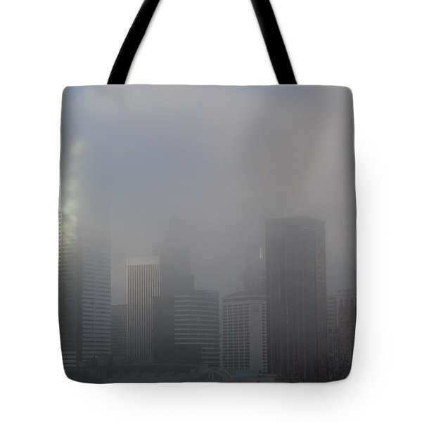 Translucent Skyline Tote Bag