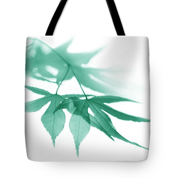 Tote Bag featuring the photograph Translucent Teal Leaves by Jennie Marie Schell