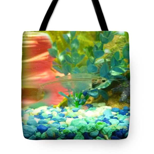 Tote Bag featuring the photograph Transparent Catfish by Barbara Yearty