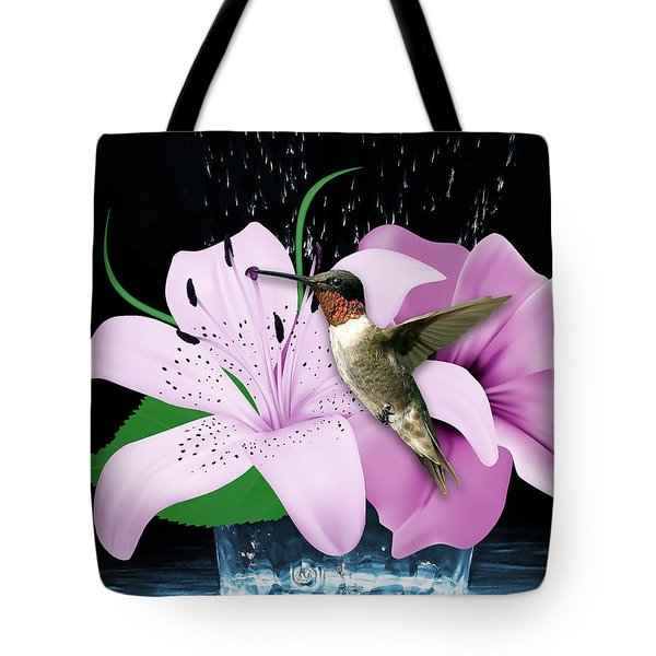 Tote Bag featuring the mixed media Transport Hummingbird by Marvin Blaine