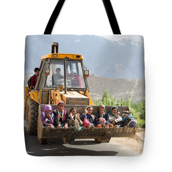 Transport In Ladakh, India Tote Bag
