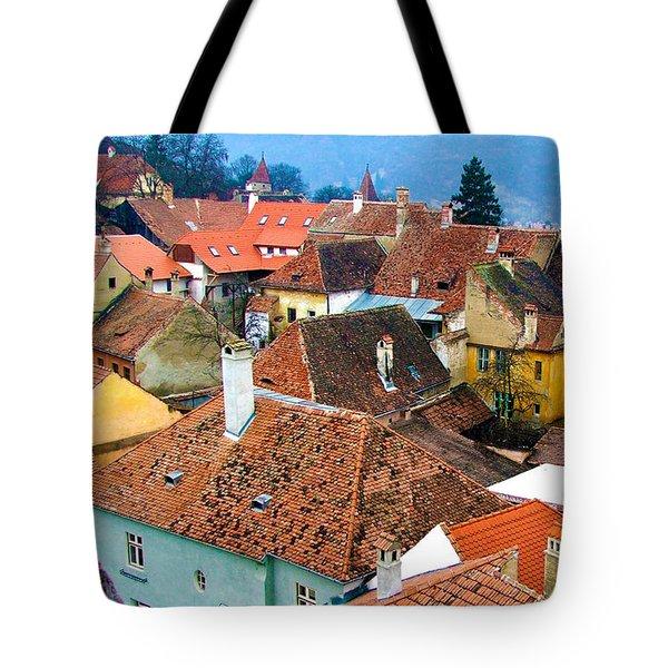 Transylvania Rooftops Tote Bag