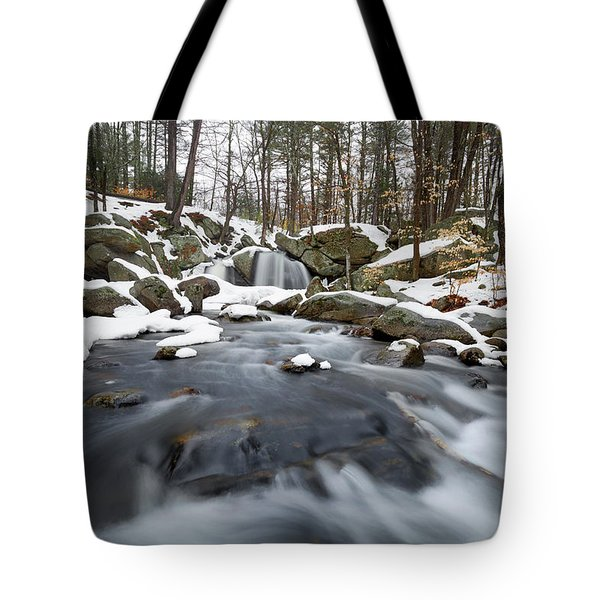 Tote Bag featuring the photograph Trap Falls Winter by Brian Hale