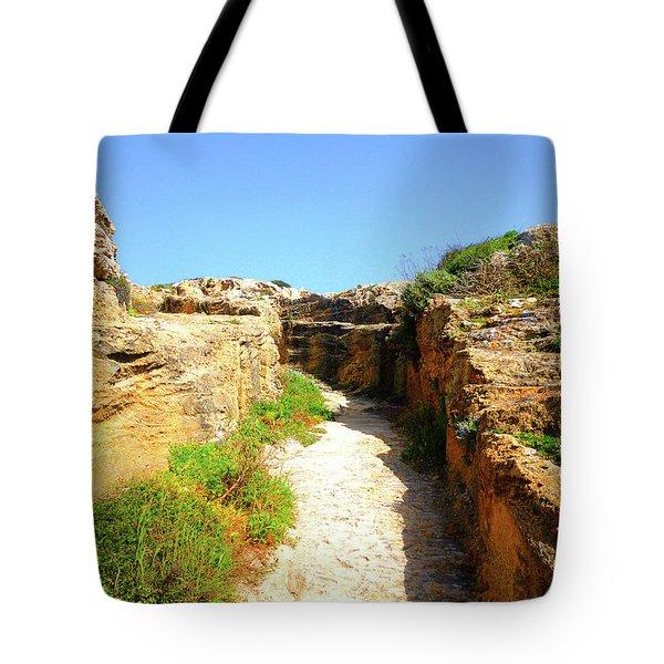 Trapani Sunny Road Tote Bag