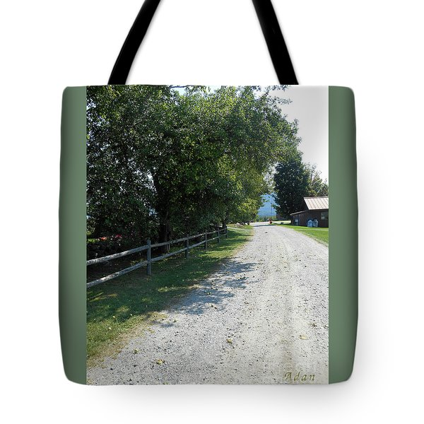 Trapp Family Lodge Rustic Road Tote Bag