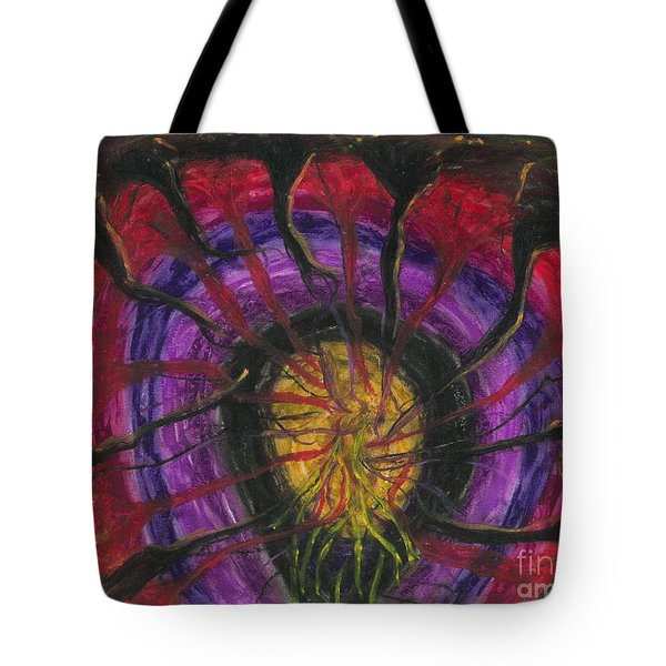 Tote Bag featuring the painting Trapped Within  by Ania M Milo