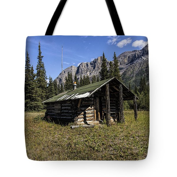 Trappers Cabin Tote Bag