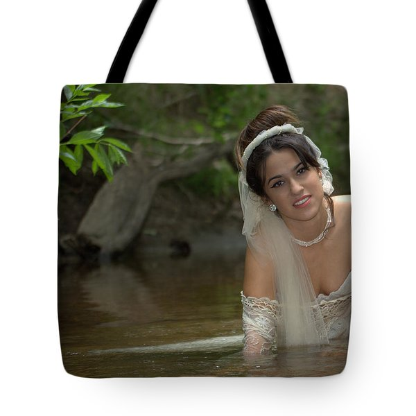 Tote Bag featuring the photograph Trash The Dress by John King