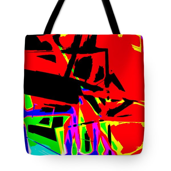 Tote Bag featuring the digital art Trator Crash by Lola Connelly