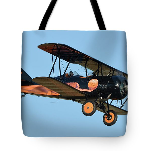 Travel Air D-4-d Nc472n Chino California April 29 2016 Tote Bag by Brian Lockett