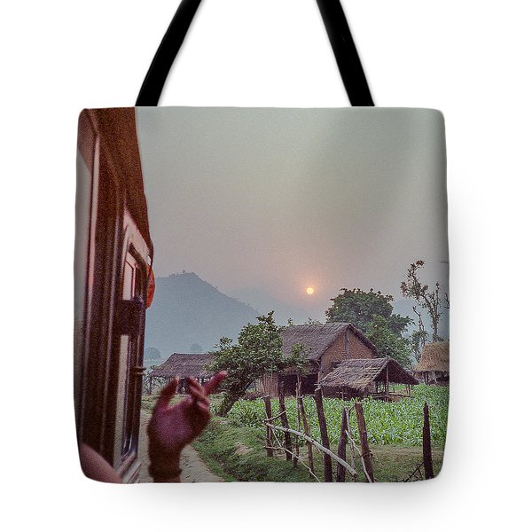 Travel By Train In Nepal In 1987 Tote Bag
