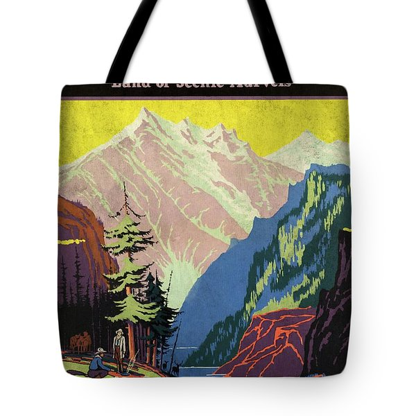 Travel By Train To Colorado Rockies - Vintage Poster Vintagelized Tote Bag