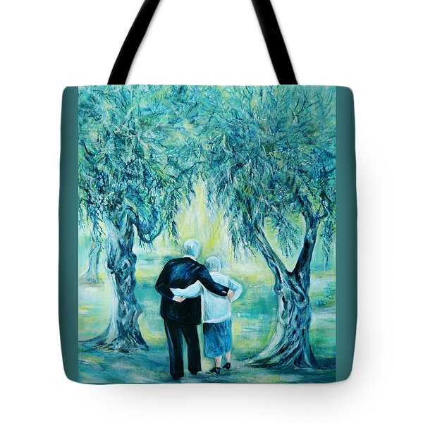 Travel Notebook.olive Groves Tote Bag by Anna  Duyunova