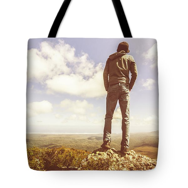 Travel Tourist Trekking West Coast Tasmania Tote Bag